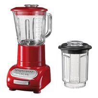 KITCHENAID - blender/mixeur 1,5l 550w avec bol en verre + bol 0.75l - 5ksb5553 eer