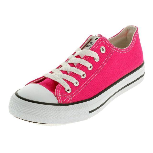 Treeker9 Chaussures running mode Hills rose toile Rose