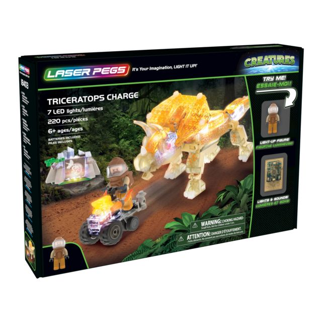 LASER PEGS CREATURES - Le Dinosaure Triceratops - 18403