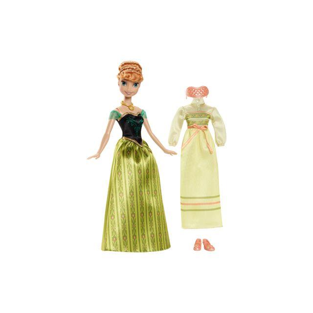 223ee57387d Mattel - La Reine des Neiges - Coffret Anna avec tenue - pas cher ...