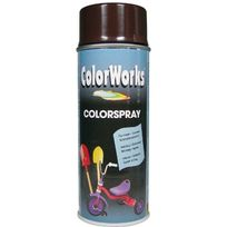 Colorworks - Peinture aérosol brillante brun chocolat - 400 ml