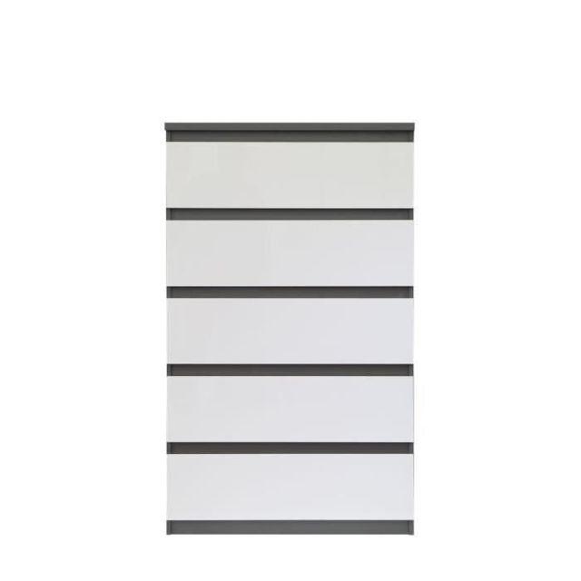MARQUE GENERIQUE Icaverne COMMODE DE CHAMBRE Commode de chambre NATTI style contemporain gris et blanc - L 78 cm