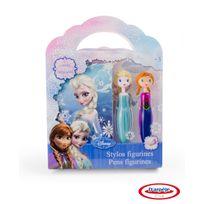 LA REINE DES NEIGES - Coffret stylos figurines avec carnet Reine des Neiges