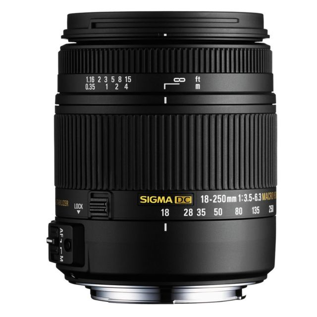 Sigma Objectif 18-250 mm f/3,5-6,3 Dc Macro Os Hsm Canon