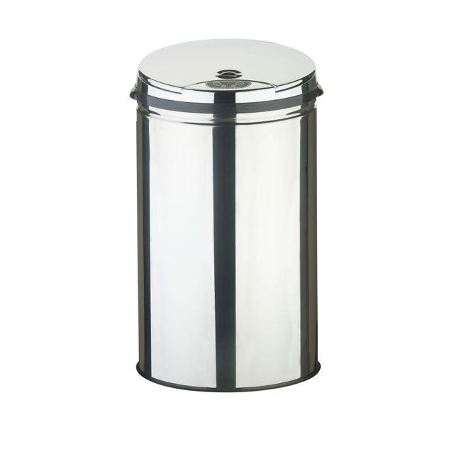 frandis sensor poubelle ronde inox 30l p355100 pas cher achat vente poubelle de. Black Bedroom Furniture Sets. Home Design Ideas