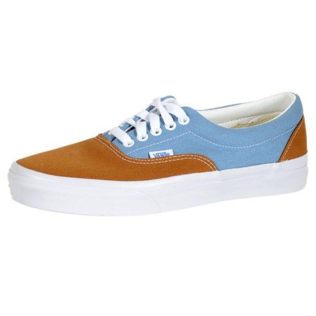 vans bleu et marron