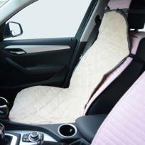 PAWHUT - Couverture de siège de voiture pour chien chat animal de compagnie housse de protection 115 l x 54 l cm beige 38