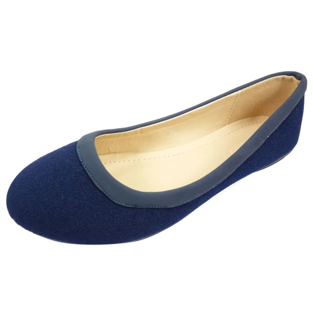 1fc3ee6d0eaa5 Chaussmaro - Ballerines plates chaussures femme casual a bout rond en tissu