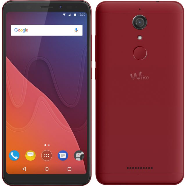 wiko view 16 go rouge pas cher achat vente smartphone android android rueducommerce. Black Bedroom Furniture Sets. Home Design Ideas