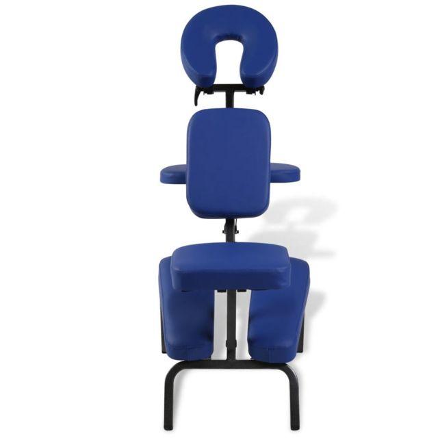 Icaverne - Fauteuils de massage ligne Chaise de Massage Pliante et Portable Bleu