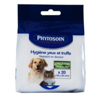 Phytosoin - lingettes yeux et truffes chien et chat