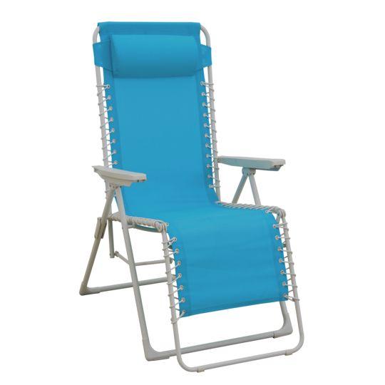 Fauteuil Relax® multiposition - Bleu à Prix Carrefour