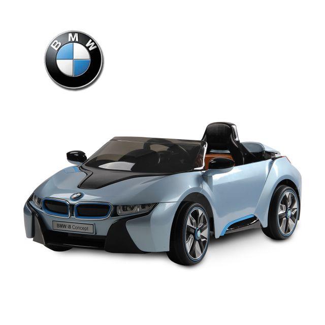 BMW MOTOR SPORT - BMW i8 voiture véhicule électrique pour enfants 3-8 ans 2 moteurs 6 V 3-6 Km/h phares musique télécommande bleu 01BU