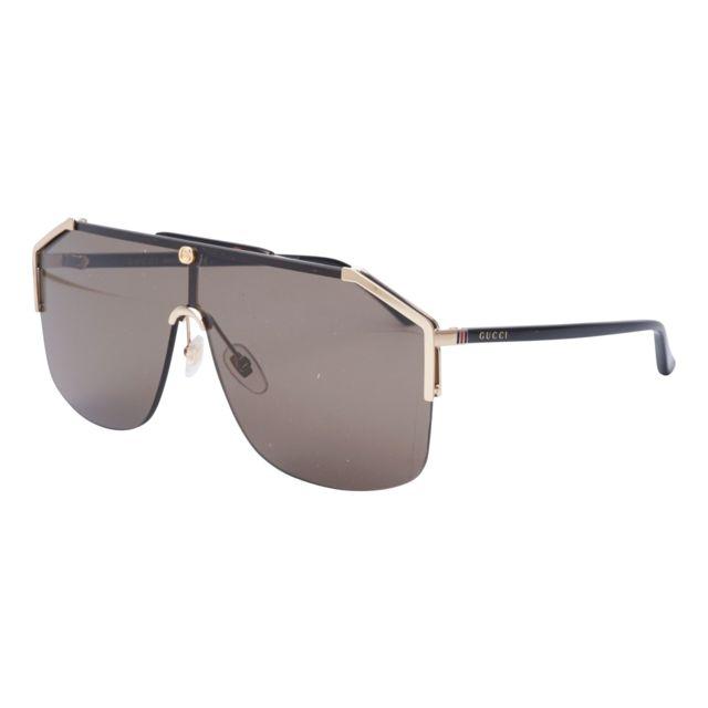 Gucci - Gg-0291-S 002 Or - Noir foncé - Lunettes de soleil - pas cher Achat    Vente Lunettes Tendance - RueDuCommerce 6151e99a612a