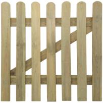 Rocambolesk - Superbe Portillon en bois 100 x 100 cm Neuf