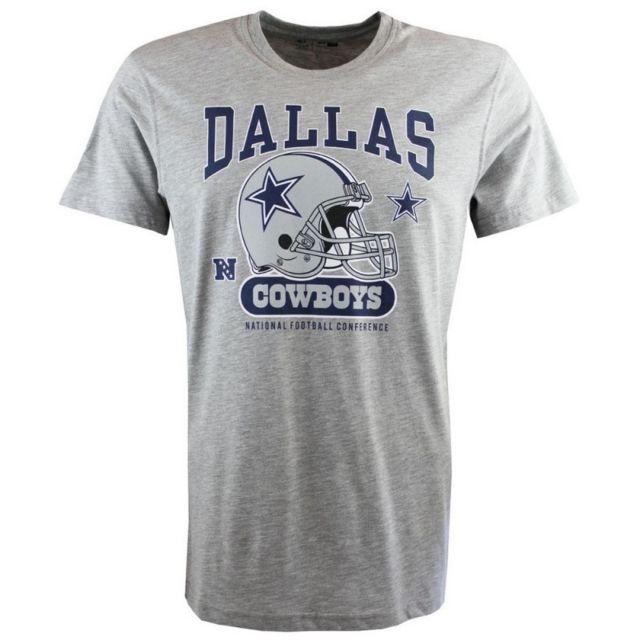 4d8e702705085 New Era - T-shirt Nfl Dallas Cowboys New Era Helmet Classic gris pour homme