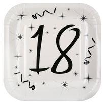 1001DECOTABLE - 10 Assiettes anniversaire 18ans