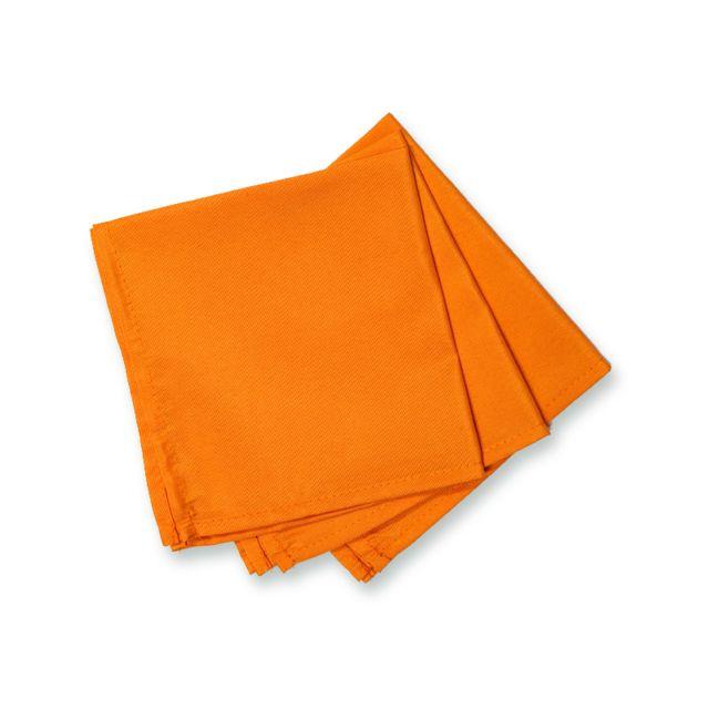 Soleil d'ocre - Lot de 3 serviettes de table Alix orange