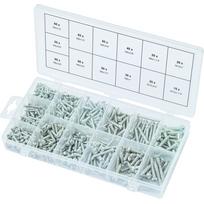 Ks Tools - Assortiment de vis auto-taraudeuses à tête ronde, 550 pcs 970.0420