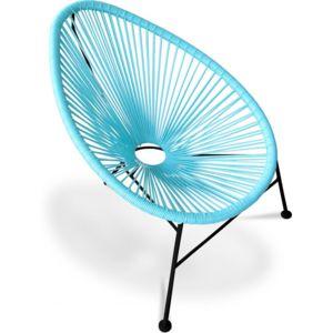 privatefloor fauteuil acapulco pi tement noir lot de 4 turquoise pas cher achat vente. Black Bedroom Furniture Sets. Home Design Ideas