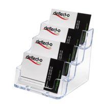 Deflecto - Porte cartes de visite 4 cases transparent