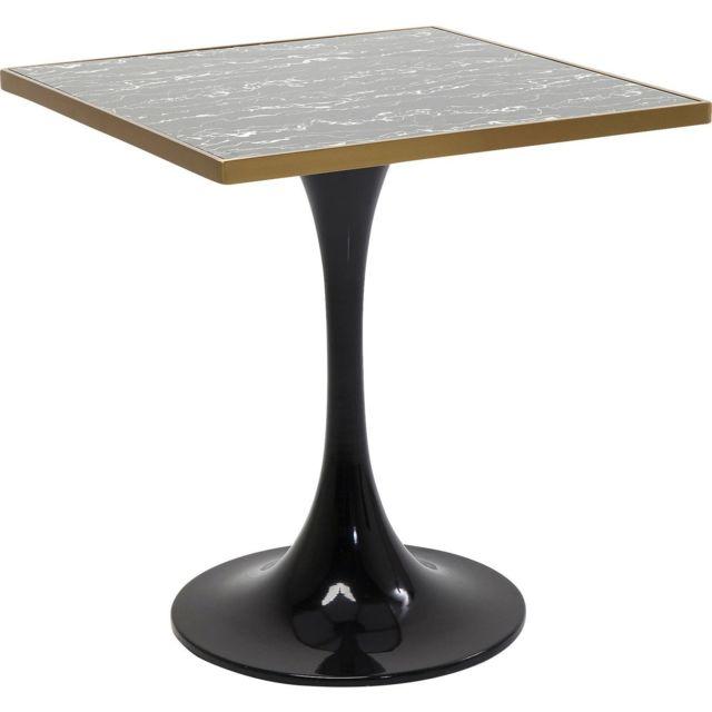 Karedesign Table San Remo noire carrée 72x72cm Kare Design