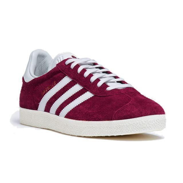 Adidas originals - Baskets - Gazelle S76220 - Bordeaux Blanc Rouge - 45 1/3  - pas cher Achat / Vente Baskets homme - RueDuCommerce