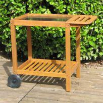 Somagic - Chariot pour plancha en bois Fsc pour plancha