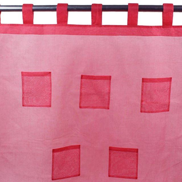 mon beau tapis voilage pocket pattes 110x250 fuchsia pas cher achat vente voilage. Black Bedroom Furniture Sets. Home Design Ideas