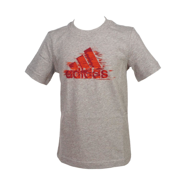 ADIDAS- Tee shirt manches courtes Ts mc graphic gris jr Gris 57472 - 7-