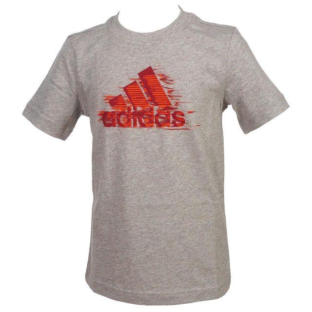 6db316570cacd Adidas - Tee shirt manches courtes Ts mc graphic gris jr Gris 57472 - pas  cher Achat   Vente Tee shirt enfant - RueDuCommerce