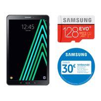 Samsung - Galaxy Tab A6 - 10,1'' Full HD - 16 Go - Wifi - Noir + MICRO SD EVO PLUS Classe 10 - 128 Go