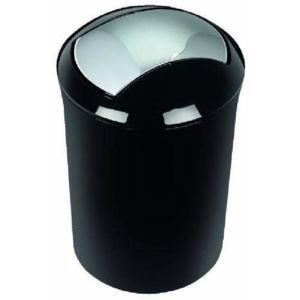 Sydney - Poubelle salle de bain 30x19x19cm Noir - pas cher Achat ...