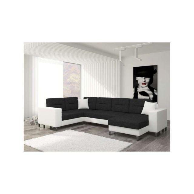 site réputé ed618 5176c Dorado U Canapé panoramique Blanc Noir
