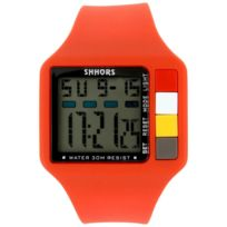 Montres Sport Homme - Montre Homme Sport Silicone Rouge 1719
