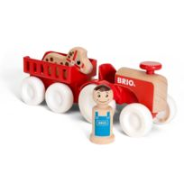 Brio - Tracteur et remorque en bois