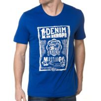 Mustang - T-shirt Bleu Royal Pour Homme