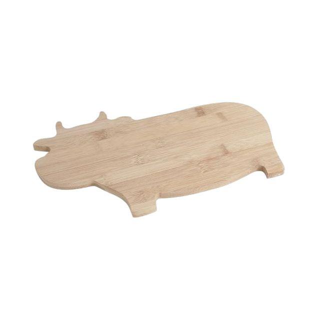 AUBRY GASPARD Planche à découper Vache en bambou