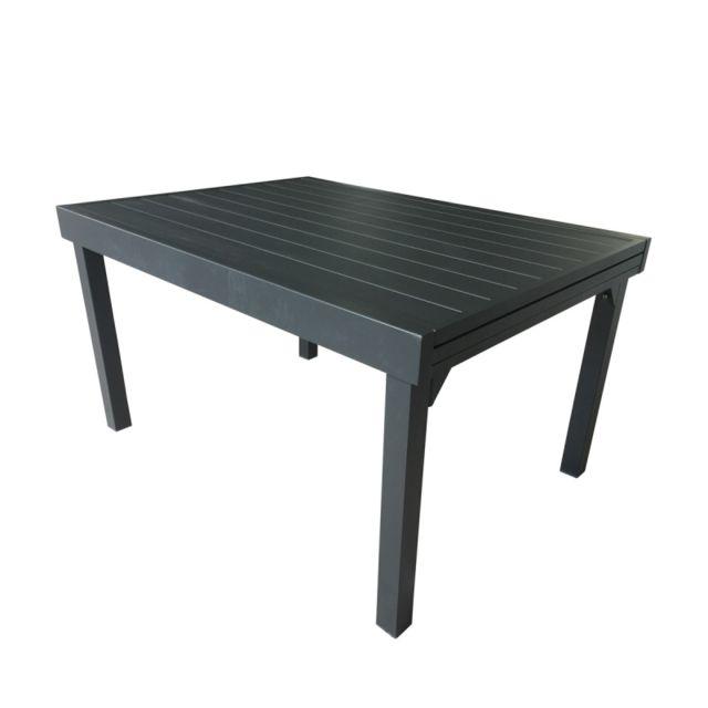 Bois Dessus Bois Dessous Table de jardin extensible en aluminium gris 6/10 places