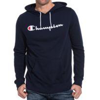 Champion - Sweat hoodie homme bleu à capuche