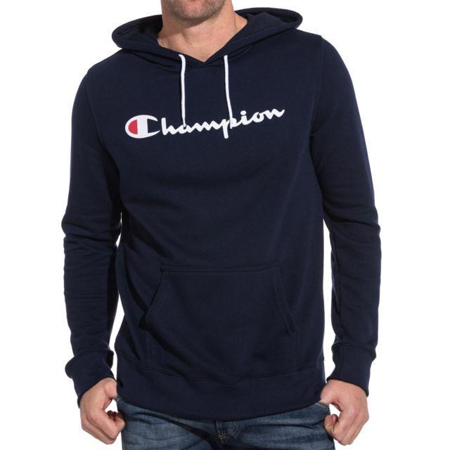 hoodie homme bleu