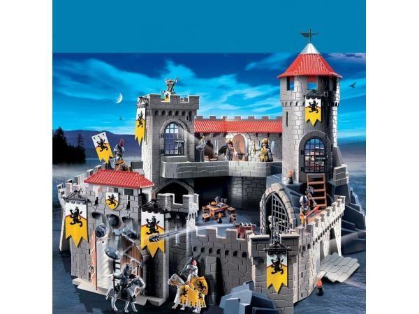 Playmobil Château Fort Des Chevaliers Du Lion 4865 Pas Cher