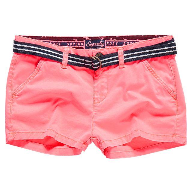 Superdry - International Hot Short Femme - Taille L - Rose - pas cher Achat    Vente Short femme - RueDuCommerce c97a829a88e