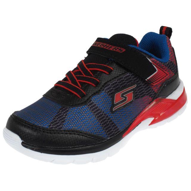 Chaussures scratch Skechers Shimmer beams lumiere Bleu 40662