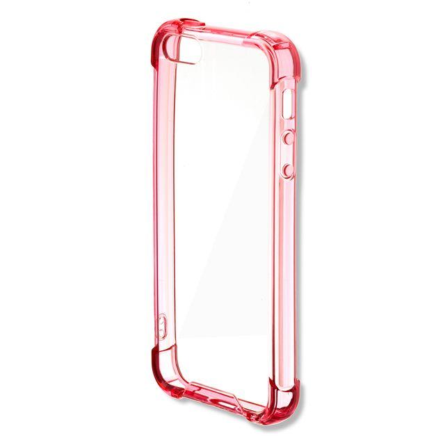 4SMARTS - Coque Ibiza pour iPhone Se et 5S coloris rose translucide