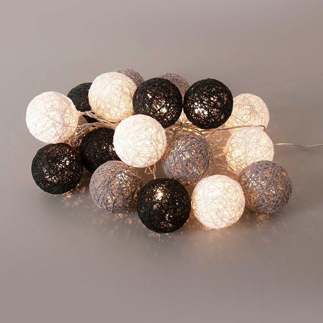 guirlande lumineuse boule coton - achat guirlande lumineuse boule