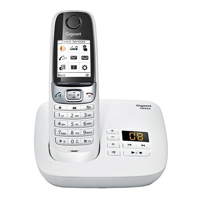 gigaset t l phone c620a blanc pas cher achat vente t l phone fixe filaire rueducommerce. Black Bedroom Furniture Sets. Home Design Ideas