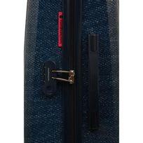 Lulu Castagnette - Valise Rigide Abs 8 Roues 75 cm Tba Blue