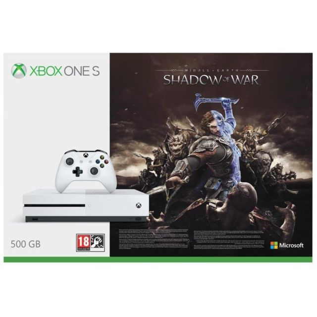 MICROSOFT Pack Xbox One S 500Go + L'ombre de la guerre