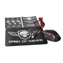 SPIRIT OF GAMER - Bundle Gaming Mouse & Pad '' ELITE-M8'' - 4 résolutions DPI réglables